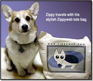 Zippy and his totebag